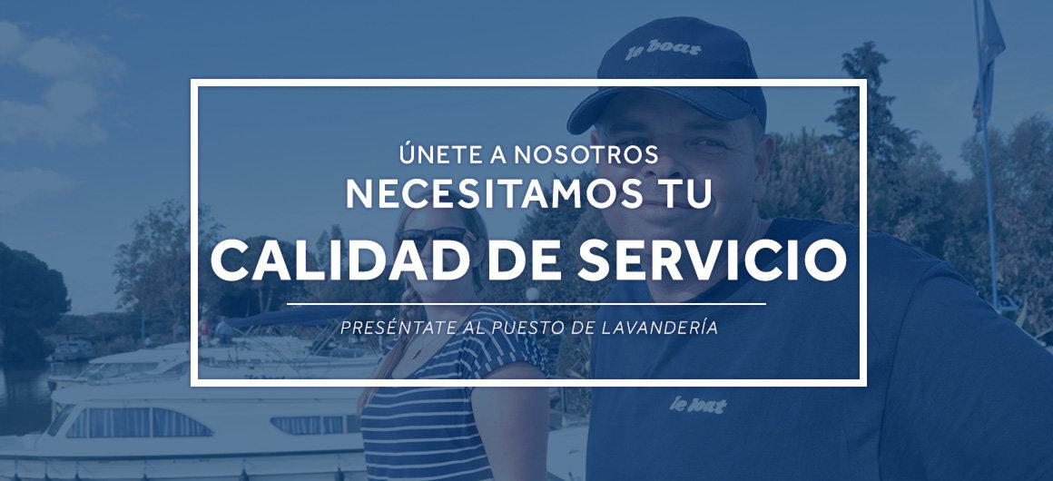 Necesitamos tu calidad de servicio