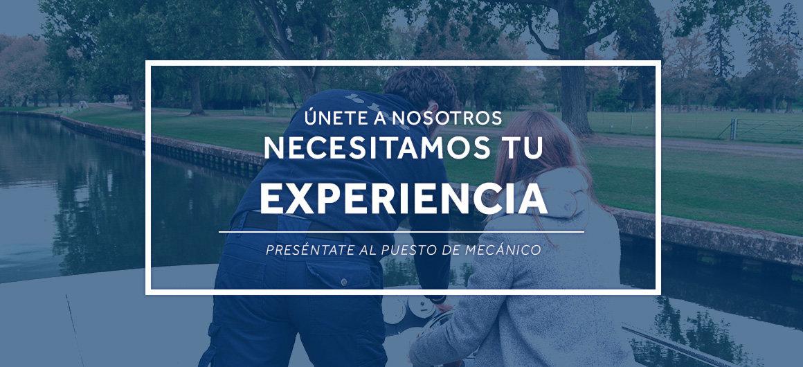 Necesitamos tu experiencia