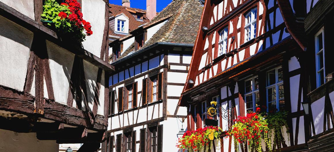Casas con entramado de madera en Alsacia