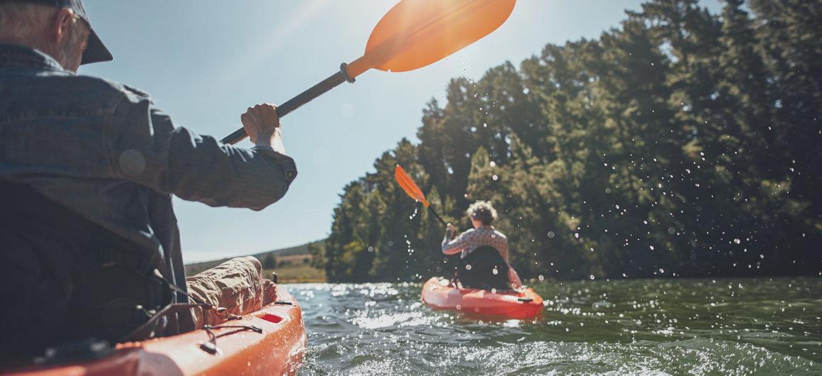Piragüismo en los lagos de Canadá