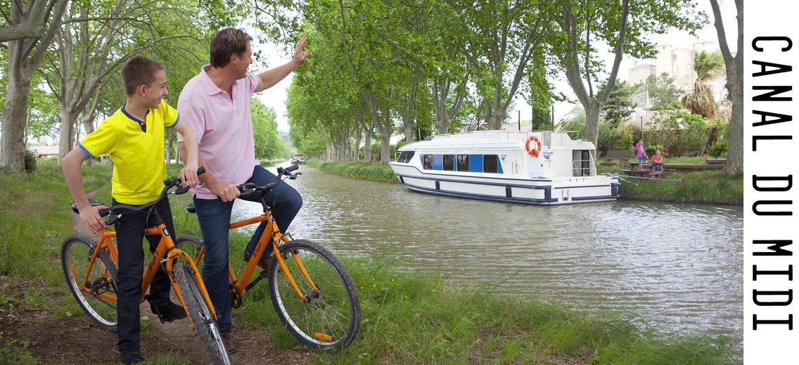 Pasear en Bici a lo largo del Canal du Midi