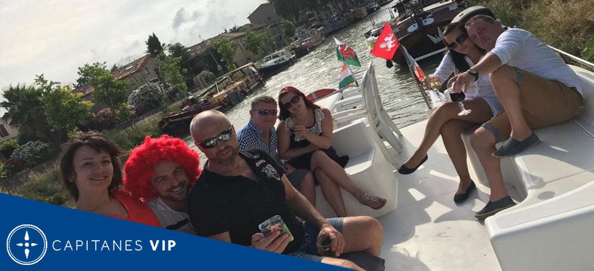 Capitán Mike en el Canal du Midi