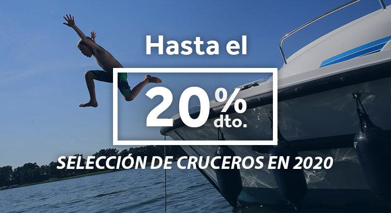 Cruceros en barco 20% de descuento en 2020