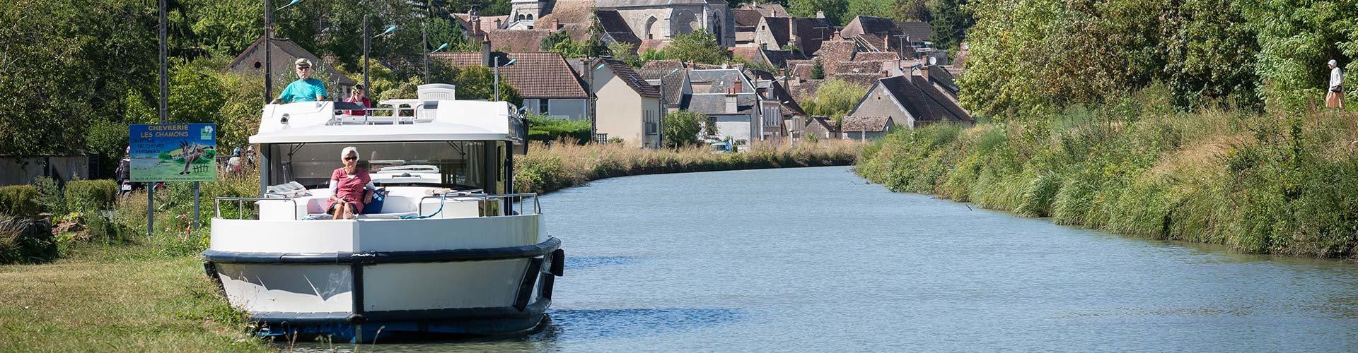 Crucero & alquiler de barco sin necesidad de licencia en Borgoña