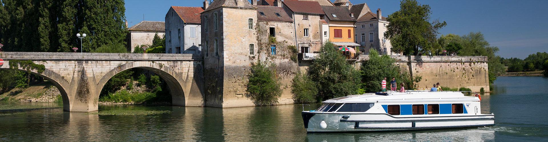 El barco Vision en Borgoña