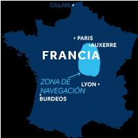 Región de navegación Loira-Nivernais en Francia