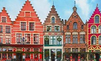 Casas coloridas en Brujas