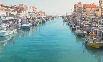 Canal en Palavas-les-Flots