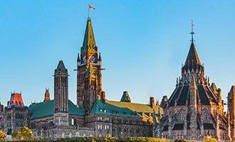 Colina del Parlamento en Ottawa