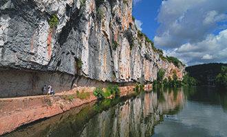 Camino de sirga en Bouziès